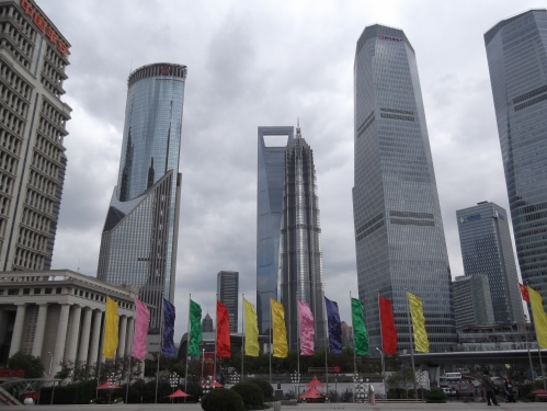 Modern, new, and expanding at a frenetic pace: the Pudong side of Shanghai