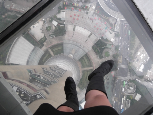 It's a long way down! 260 meters or 860 feet.